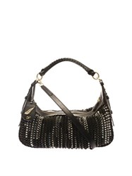 Diane Von Furstenberg Sutra Knit Hobo Bag Black Multi