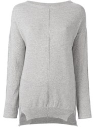 Kristensen Du Nord Exposed Seam Jumper Grey