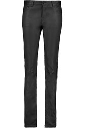 Rick Owens Stretch Leather And Cotton Blend Skinny Pants