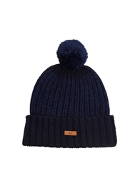 Fred Perry Twisted Yarn Bobble Hat Navy