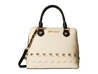 Betsey Johnson Wavy Days Dome Satchel Cream Satchel Handbags Beige