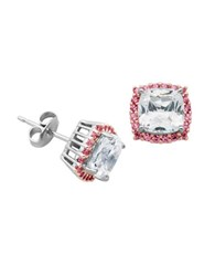 Lord And Taylor Sapphire Stud Earrings Pink