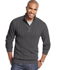Tricots St Raphael Tricots St. Raphael Fisherman Cable Knit Sweater Granite Heather