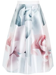 Ted Baker Jolana Porcelain Rose Full Midi Skirt Ecru