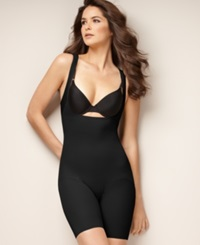 Naomi And Nicole Firm Control Unbelievable Comfort Long Leg Open Bust Body Shaper 7071 Black