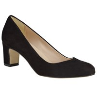 John Lewis Alfia Court Shoes Black Suede