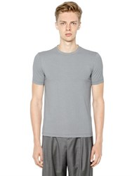 Giorgio Armani Printed Stretch Viscose Jersey T Shirt
