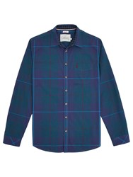Joules Lyndhurst Soft Slim Fit Shirt Dark Teal Tartan