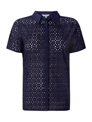 Dickins And Jones Brodie Blouse Top Navy