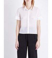 French Connection Polly Frilled Sleeve Woven Shirt Summer White