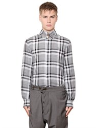 Vivienne Westwood Plaid Stretch Cotton Jacquard Shirt