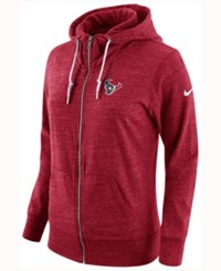 Nike Women's Houston Texans Tailgate Vintage Full Zip Hoodie Red