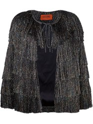 Missoni Glitter Effect Fringed Jacket Black