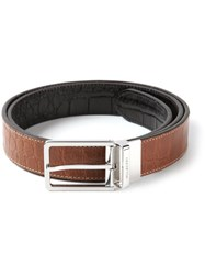 Mulberry Long Buckle Belt Brown