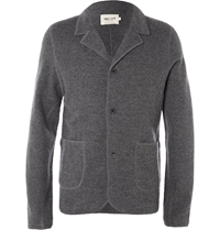 Nn.07 Wallace Slim Fit Boiled Wool Blazer Gray
