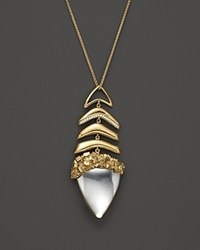 Kara Ross 18K Yellow Gold And Diamond Large Graduating Hydra Pendant Necklace With Rock Crystal 24 Gold White