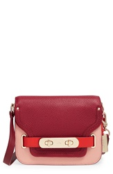 'Small Swagger' Leather Shoulder Bag Black Cherry