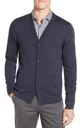 John W. Nordstromr Men's Nordstrom 'Basic' Wool Button Cardigan Navy Charcoal