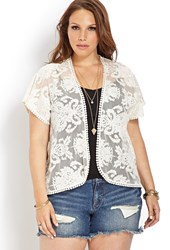 Forever 21 Plus Size Boho Moment Embroidered Cardigan