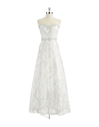 Cachet Glittering Sweetheart Gown Ivory Gold