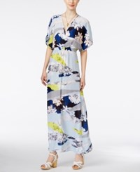 Bar Iii Floral Print Kimono Maxi Dress Only At Macy's White
