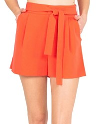 Kendall Kylie Paper Bag Shorts Grenadine