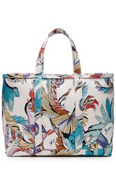 Emilio Pucci Printed Cotton Tote Red