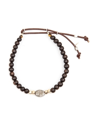 Catherine Michiels Bead Bracelet Brown