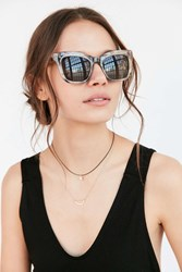 Urban Outfitters Terrace Cat Eye Sunglasses Ivory