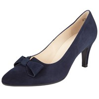 Peter Kaiser Valona Bow Pointed Toe Court Shoes Navy