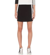 Mini Cream Branded Cotton Jersey Skirt Black