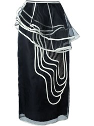 Antonio Marras Swirl Pattern Skirt Black