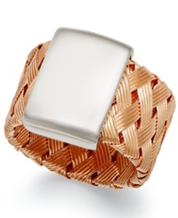 The Fifth Season By Roberto Coin 18K Rose Gold Over Sterling Silver Ring Woven Ring