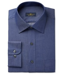 Club Room Estate Men's Big And Tall Classic Fit Wrinkle Resistant Irish Shadow Solid Dress Shirt Only At Macy's