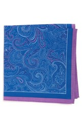 Calibrate Men's 'Fancy Paisley' Cotton And Silk Pocket Square