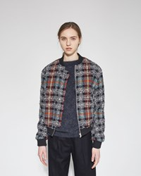 Acne Studios Azura Check Bomber Blue Check