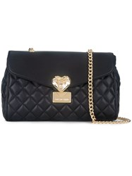 Love Moschino Quilted Crossbody Bag Black