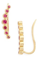 Bony Levy Women's Gemstone Ear Crawlers Nordstrom Exclusive Yellow Gold Ruby