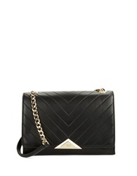 Karl Lagerfeld Gigi Leather Shoulder Bag Black
