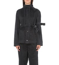 Craig Green Hooded Silk Jacket Black