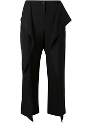 Lost And Found Front Pleat Cropped Trousers Black