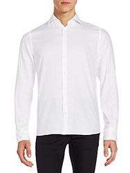 J. Lindeberg Slim Fit Cotton Sportshirt White