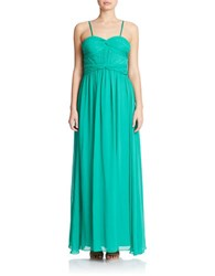 Hailey Logan Sleeveless Chiffon Gown Palm