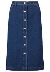 Miss Selfridge Denim Skirt Blue Dark Blue