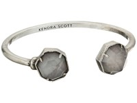 Kendra Scott Brinkley Bracelet Antique Silver Gray Mother Of Pearl Bracelet