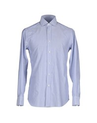 Salvatore Piccolo Shirts Shirts Men Azure