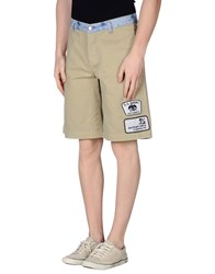 Weber Denim Denim Bermudas Men Beige