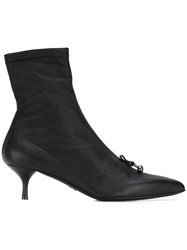Ermanno Scervino Pointed Toe Ankle Boots Black