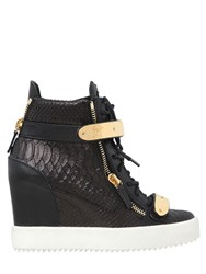 Giuseppe Zanotti 75Mm Bangle Embossed Leather Sneakers