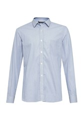 French Connection Co Micro Stripe Shirt Blue